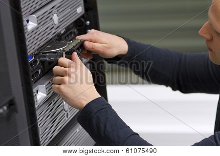 IT Technician Install a Harddrive