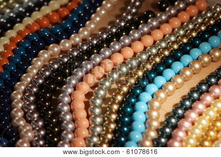 Group of multicoloured beads