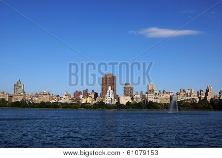 New York City Skyline As Seen From Across The Reservior