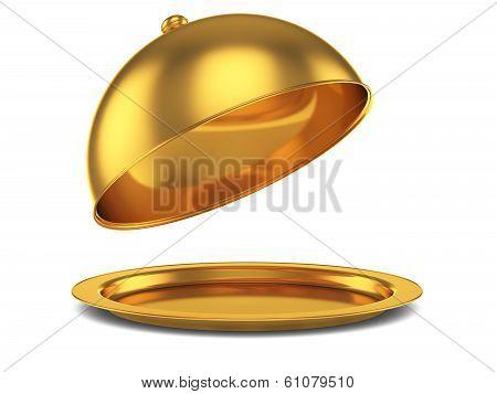 Opened Golden Cloche