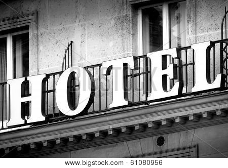 Hotel In Black And White