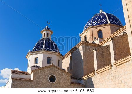 Altea old village Church typical Mediterranean at Alicante Spain