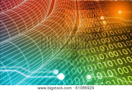 Technology Concept with a Data Information Online