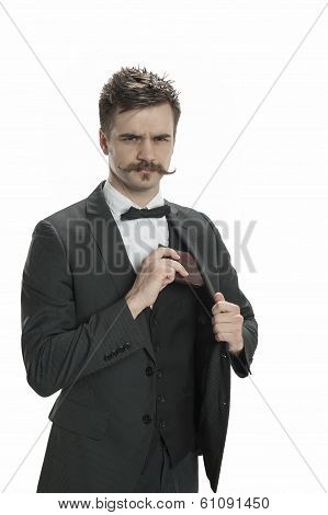 Man With The Mustache And Money