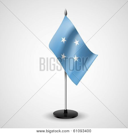 Table flag of Federated States of Micronesia