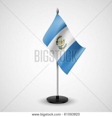 Table flag of Guatemala