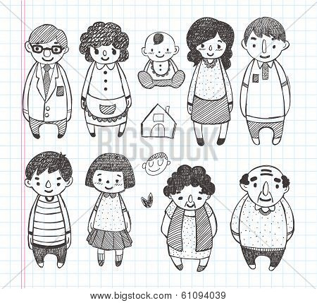 Doodle Family Icons