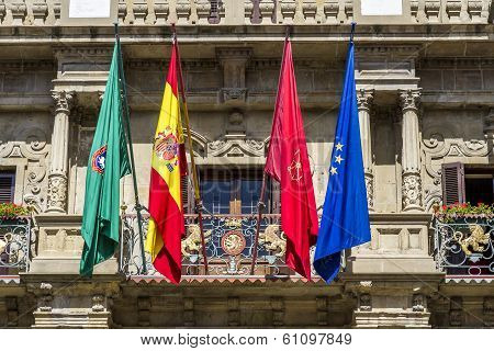 Town Hall Of Pamplona, Navarra, Spain.