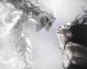 stock photo of monsters  - beauty and the beast - JPG
