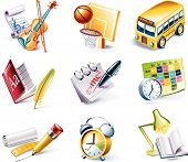 stock photo of transportation icons  - Set of the highly detailed cartoon icons - JPG