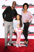 LOS ANGELES - MAR 5: J.B. Smoove, wife, daughter at the premiere of 'Mr. Peabody & Sherman' at Regen