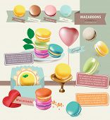 Tasty Colorful Vector Macaroon Elements 2