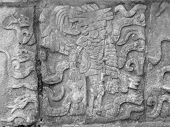 Stone Relief Detail In Chichen Itza