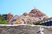 picture of archangel  - The Monastery of Archangel Michael with a part of Holy Nail from the crucifixion of Jesus Christ Thassos island Greece - JPG