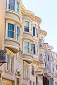 San Francisco Victorian houses near Washington Square California USA