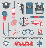 stock photo of taser  - Collection of Peace Officer Labels and Objects - JPG