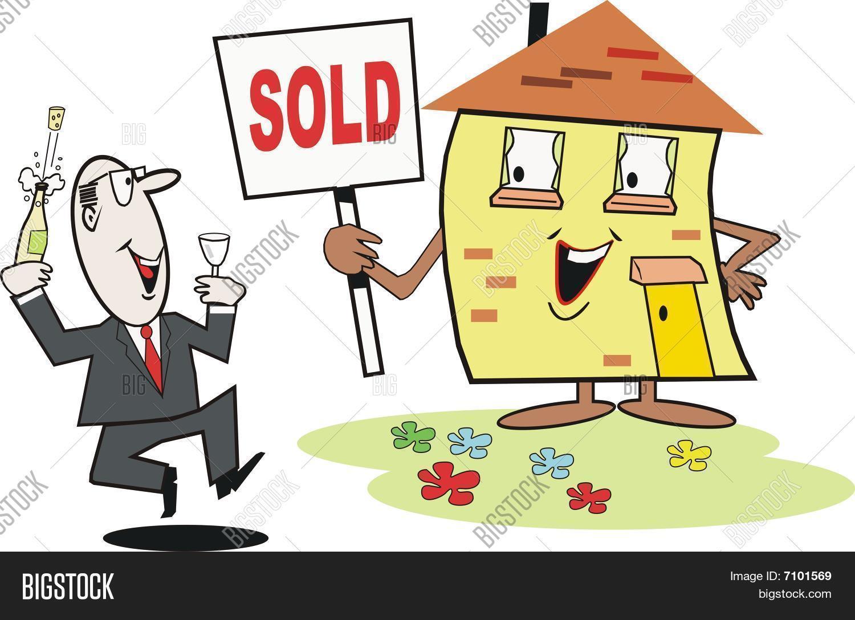 vector y foto dibujos animados de bienes raíces | bigstock - Bienes Inmuebles Dibujos