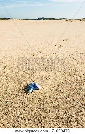 Carelessly Discarded Empty Tin