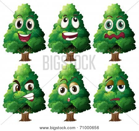 Illustration of tree with expressions