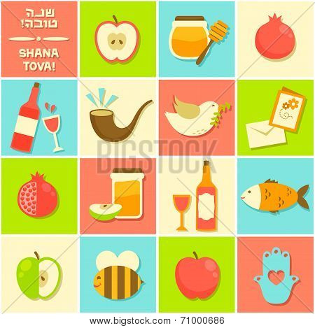 icons for Rosh Hashana