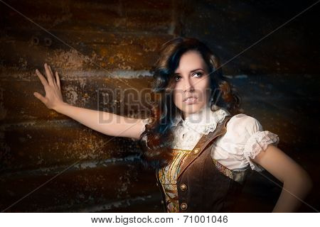 Steampunk Girl in Lolita Dress