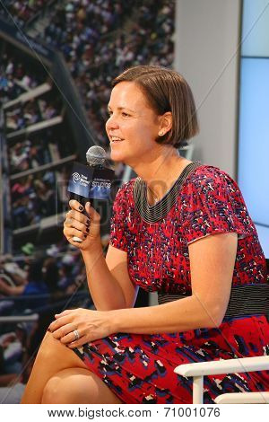 Three times Grand Slam champion and Olympic Champion Lindsay Davenport during press conference