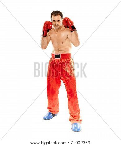 Kickboxer In Guard Stance