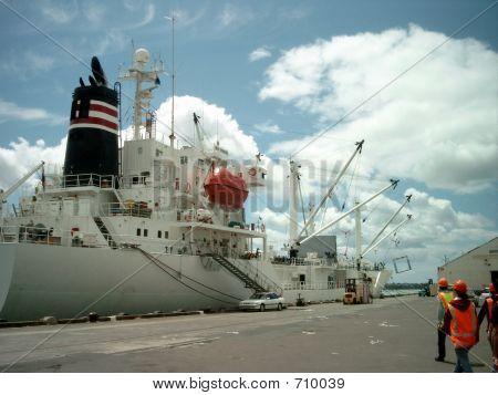 Reefer Vessel Unloading