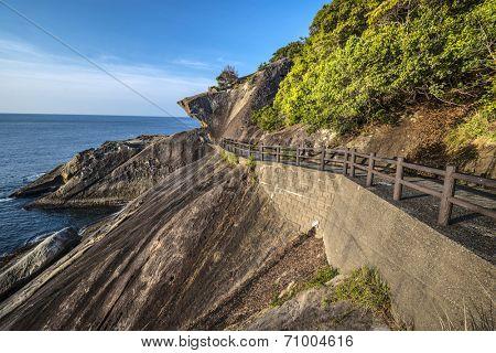 Kumano, Japan coast line at Onigajo