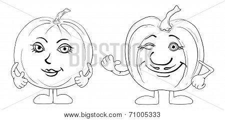 Pumpkins character, contours