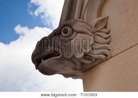 Carved Gargoyle On Church