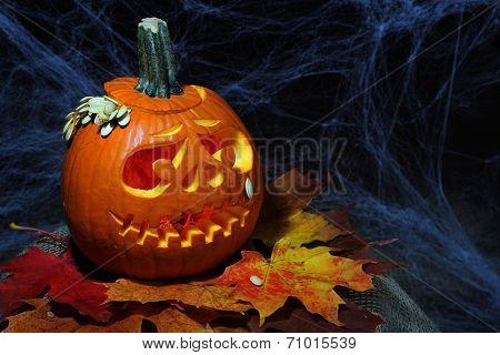 Halloween pumpkin jack-o-lantern