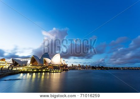 SYDNEY - August 20,2014: Opera House viewed from the waterfront