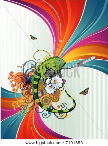 chameleon vector illustration