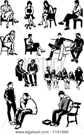Folks Sitting