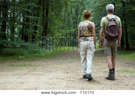 Caminhadas do casal sênior