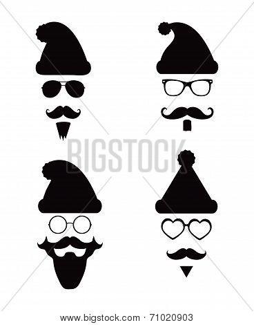 Santa Klaus fashion silhouette hipster style