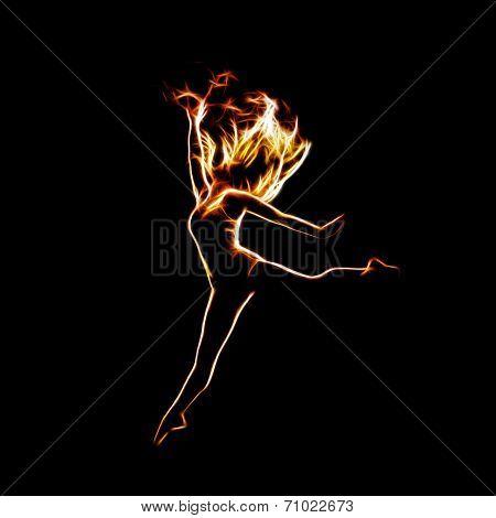 Ballerina Jumping Up