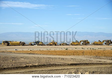 Line of Heavy Equipment