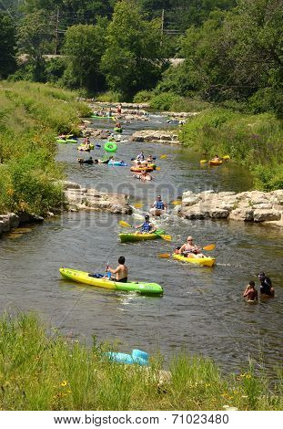 Kayakers At Argo Cascades