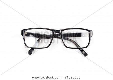 Black Eye Glasses Look A Bit Nerd Style Isolated On White