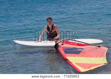 Man Adult Windsurfer