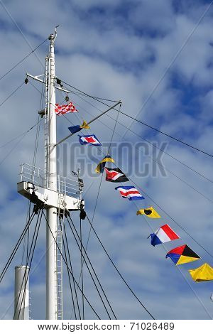 Mast And Maritime Signal Flags