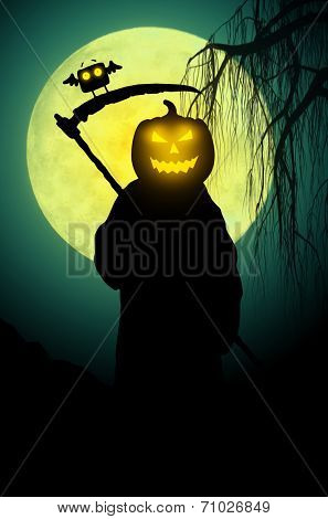 Silhouette of death. Halloween style