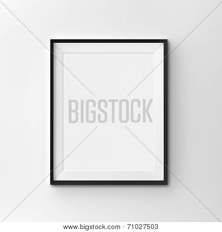 White blank frame on clean background