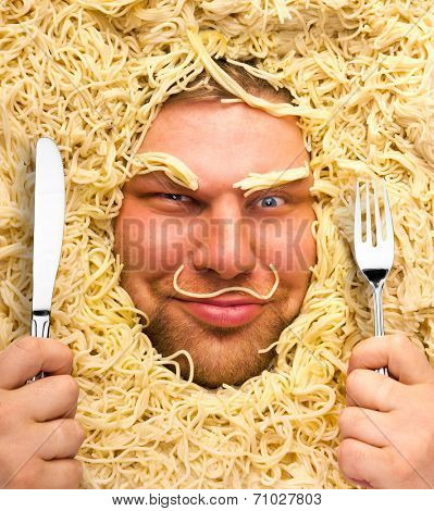 Man in pasta