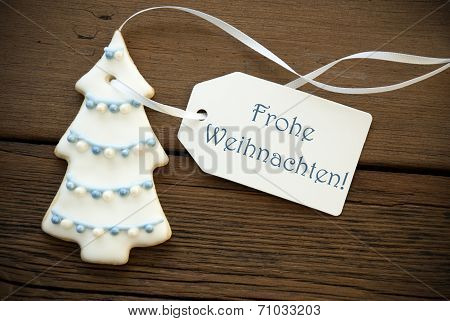 Blue Frohe Weihnachten As Christmas Greetings