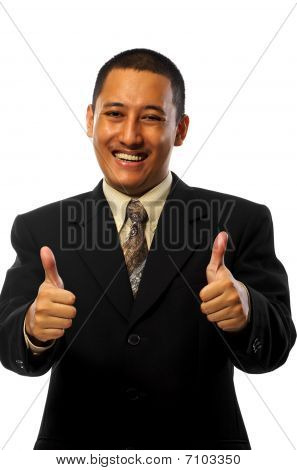 Businessman Give Thumbs Up