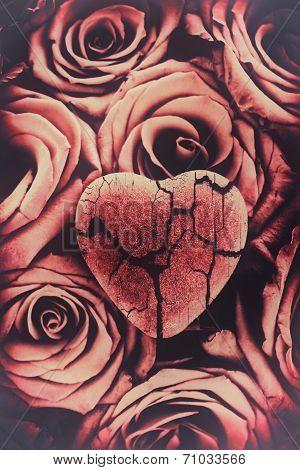 Broken Heart On Roses - Faded