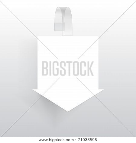 Vector Blank Wobbler with Transparent Strip